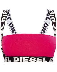 DIESEL Logo-embroidered Briefs Pink