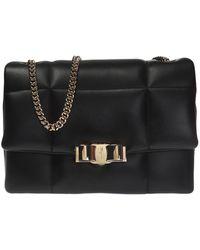 2c1c1f206635 Lyst - Ferragamo Gelly Quilted Nappa Leather Shoulder Bag