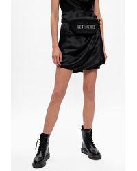 Vetements Branded Belt Bag Black