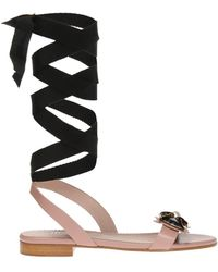 RED Valentino - Appliqued Sandals - Lyst