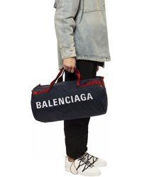 Balenciaga Wheel Gym Bag - Blue