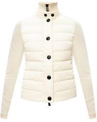 3 MONCLER GRENOBLE Jumper With Padded Front Cream - Natural