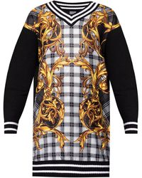 Versace Jeans Couture Jumper With Barocco Motif - Multicolour