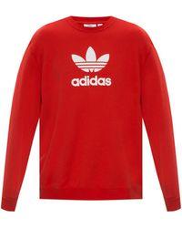 adidas Originals Sweatshirt With Logo - Red