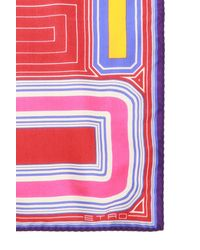 Etro Patterned Scarf With Logo Red