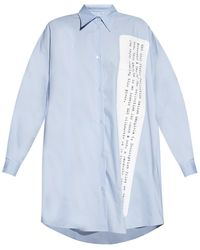 MM6 by Maison Martin Margiela - Oversize Shirt - Lyst