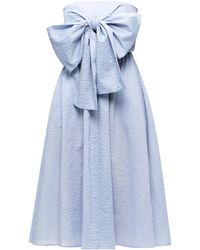 Marysia Swim Dress With Denuded Shoulders - Blue