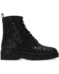 MICHAEL Michael Kors 'haskell' Glitter Combat Boots Black