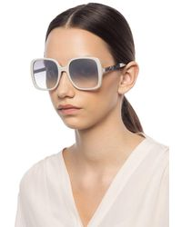 Jimmy Choo 'chari' Sunglasses Beige - Natural