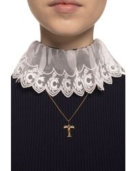 Chloé Necklace With Charm Gold - Metallic