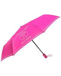 Moschino - Logo-patterned Folding Umbrella - Lyst
