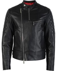 DSquared² - Leather Biker Jacket - Lyst