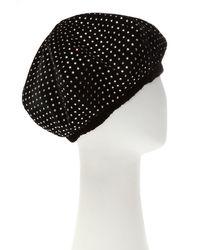 Saint Laurent Velvet Beret Black