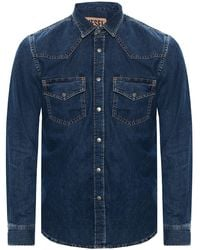 DIESEL Denim Shirt Navy Blue