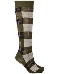 Marni Checked Socks - Green