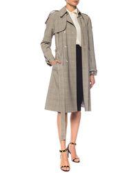 Michael Kors Checked Coat Beige - Natural