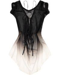 Ann Demeulemeester Transparent Dress - Black