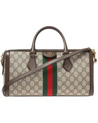 c6909bf4853 Gucci Merveilles Crossbody Bag Snake Print Red in Red - Lyst