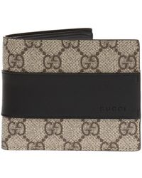 4979a7107662b6 Gucci Gg Supreme Canvas Flap French Wallet in Natural for Men - Lyst