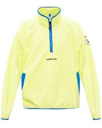 adidas Originals Fleece Sweatshirt With Logo Neon - Green