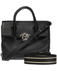 Versace 'palazzo Empire' Medusa Head Shoulder Bag - Black