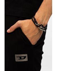 DIESEL Woven Bracelet - Black