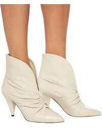 Isabel Marant 'lasteen' Heeled Ankle Boots Cream - Natural