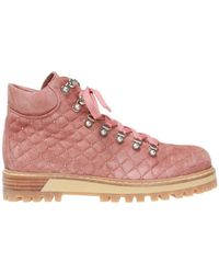 Le Silla 'st.moritz' Quilted Ankle Boots - Pink