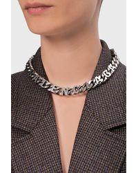 Balenciaga Chain Necklace Silver - Metallic