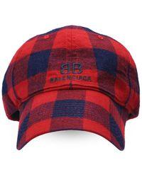 Balenciaga Branded Baseball Cap - Red