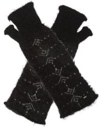 Saint Laurent Fingerless Gloves - Black
