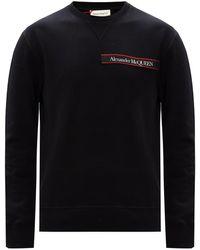 Alexander McQueen Branded Sweatshirt - Black