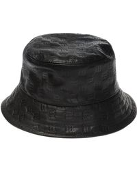 60a12f8bb7b Lyst - Zilli Leather Aviator Hat in Black for Men