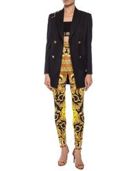 Versace Baroque-printed Trousers Multicolour - Yellow