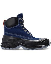 Burberry High-top Trainers Navy Blue