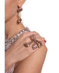 Dolce & Gabbana Embellished Ring Pink