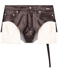 Rick Owens Shorts With Cut-outs - Black