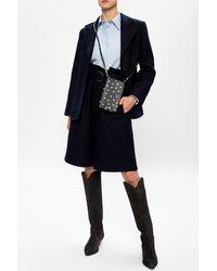 Ganni High-waisted Shorts - Blue