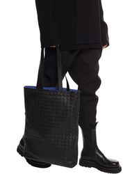 Bottega Veneta Leather Shoulder Bag - Black