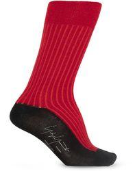 Yohji Yamamoto Socks With Logo - Red