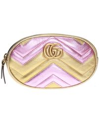 Gucci 'GG Marmont' Quilted Belt Bag - Multicolour