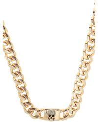 Alexander McQueen Necklace With Swarovski Crystals - Metallic