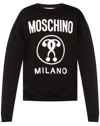 Moschino Questions Logo-print Sweatshirt - Black