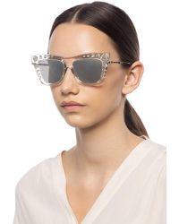Jimmy Choo 'bee' Sunglasses With Swarovski Crystals - Multicolour