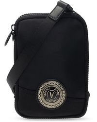 Versace Jeans Couture Pouch With Neck Strap - Black