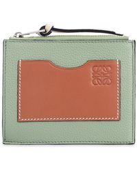 Loewe Card Case With Logo - Green