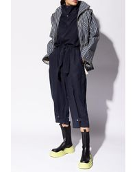 DIESEL Jumpsuit With Standing Collar - Blue