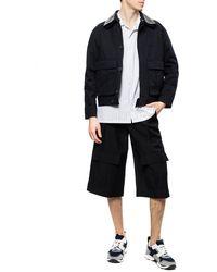 Loewe Wide Leg Shorts Black