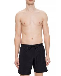 Moschino Swim Shorts With Logo - Black