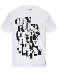 White Mountaineering Logo-printed T-shirt White